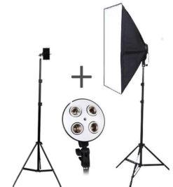 ReCam10+SoftCam30 Комплект штатив для телефона+ видеосвет 4 лампы!